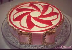 Entremet chocolat blanc insert fraise