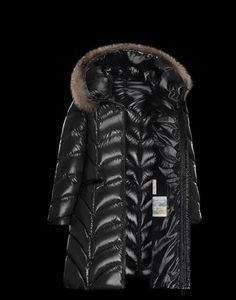 MONCLER Down Jackets ALBIZIA Fur Long Down Coat 2