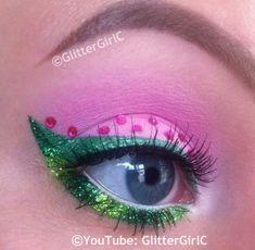 Strawberry Shortcake makeup look. YouTube channel: https://www.youtube.com/user/GlitterGirlC