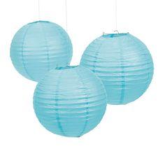 Light Blue Paper Lanterns - OrientalTrading.com for sally