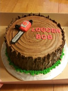 Logger themed birthday cake