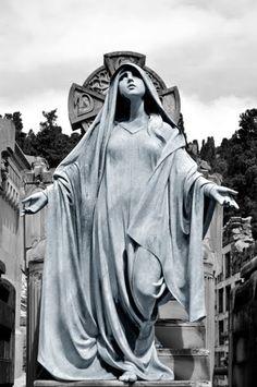 beseeching Madonna Cemetery of Montjuïc, Barcelona by Raul Rausa