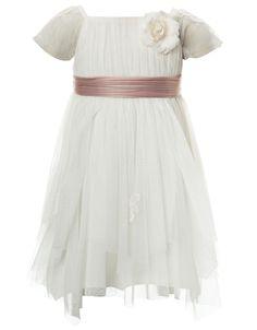 Baby Theodora Dress | White | Monsoon