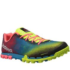 This pair of shoes has been designed with the elite athlete in mind. Endurance and terrain, you cant go wrong when it has been designed in partnership with the Reebok Spartan Race community!  www.coolneonshoes.com/  #shoe #trainer #jogger #runner #neon #yellow #womens #pink #blue #neon