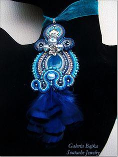 "Wisior sutasz (soutache) ""Twilight"" w Galeria Bajka Soutache Jewelry na DaWanda.com"