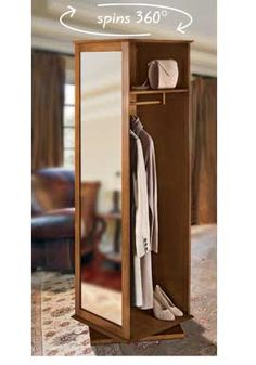 Swivel Closet, Spinning Closet, Stand-Alone Closet, Portable Closet | Solutions This looks COOL!!