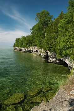 """Cave Point County Park is on the shore of Lake Michigan, located in Door County, WI. That's the """"thumb"""" of Wisconsin when you see it on the map. Its a geologically unique area of the shoreline along this area of the state."""