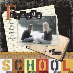 Boys High School Scrapbook Layouts | Scrapbook Layouts - School