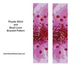 Peyote Stitch Bracelet Pattern - Center Stage - Bead Loom Bracelet Pattern