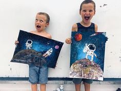RIMONIM workroom в Instagram: «#rimonimworkroom #ingavolokin #artstudio #haifa #israel #space #astronaut #moon #artproject #kidsart #artlessonsforkids #summer #camp…» Art Lessons For Kids, Art Lessons Elementary, Art For Kids, Drawing For Kids, Painting For Kids, Haifa Israel, 2nd Grade Art, School Art Projects, Collaborative Art