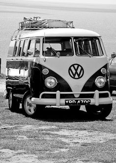 O Him Outdoors would love one of these to fix up and then go touring - the evergreen VW Camper #classic forest gump.