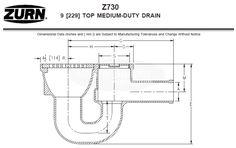 Zurn Medium-Duty Top Drain w/ Integral Double Wall Trap, Side – MasterBuilder Mercantile Inc. Floor Drains, Bronze, Medium, Wall, Tops, Walls, Medium Long Hairstyles