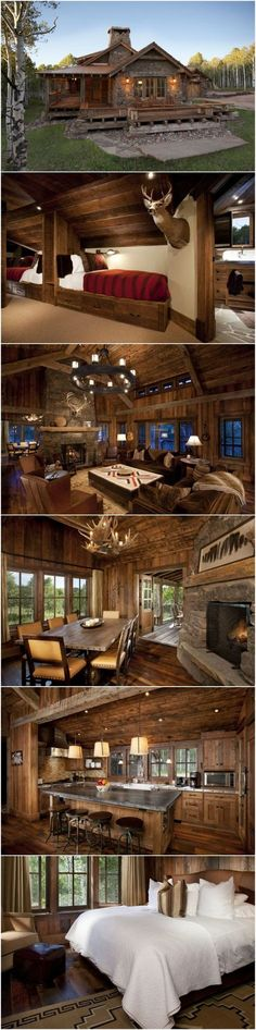 Gorgeous Log Home with Wrap Around Porch.....Love the Home Could do Without the Deer Head Though