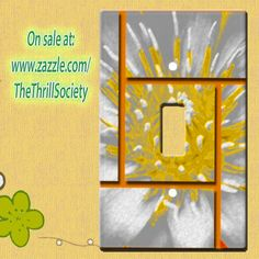 Light switch covers and more at: http://www.zazzle.com/tts_nat_designs #lightswitch #lightswitchcover #switchplate #switchplatecover #flower #flowerart