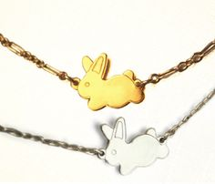 Silver & Gold Bunny Necklaces | one for each