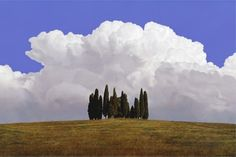 Cumulus Tuscany - Giclee Print by Chris Young