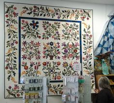 Incredible Applique Quilt at The Stitching Nook