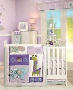 Carter Zoo Collection Crib Set A fun creative crib set for baby's room. Colorful and inviting while still having a calming relaxing feel about it. #cribset #baby #nursery # #shopthelook #afflnk