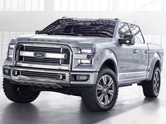 The Ford Atlas Concept was revealed at the Detroit Auto Show. It gives us a glimpse of what Ford may have planned for the 2015 The Atlas Concept design features prominent wheel arches, a wide. Ford Bronco, New Ford F150, 2015 Ford F150, Ford Motor Company, Toyota Tundra Crewmax, Audi, Bmw, F150 Truck, Pickup Trucks