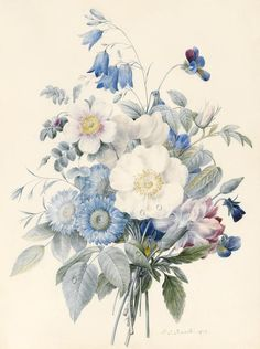 A Spray Of Summer Flowers Painting  - A Spray Of Summer Flowers Fine Art Print