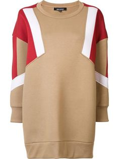 Shop the stunning designer women's sweaters selection at Farfetch for a fresh new look. Beige Top, Preppy Trends, Brown Long Sleeve Tops, Neil Barrett, Color Blocking, Colour Block, Hoodies, Sweatshirts, Designing Women