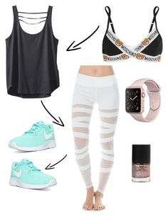 """""""Untitled #161"""" by recklessndivine ❤ liked on Polyvore featuring Electric Yoga, Kavu, Moschino and NIKE"""