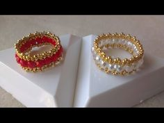 ANILLOS PERLA EN COLOR PASTEL-RINGS PEARLS PASTEL COLOR - YouTube