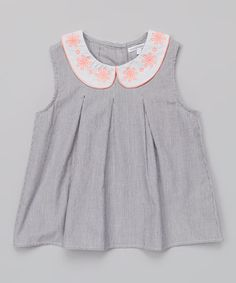 Look what I found on #zulily! Classic Navy Chambray Pleated Top - Girls by French Connection #zulilyfinds