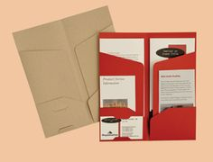 Four Pocket Folders 4 x 9 | Angle sleeves to hold documents