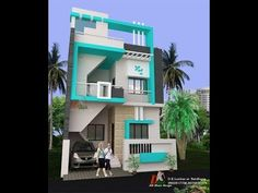 This channel is made for free house plans and designs ideas for you. Modern Small House Design, Duplex House Design, Cool House Designs, House Outside Design, House Front Design, 20x40 House Plans, House Design Pictures, House Elevation, Front Elevation