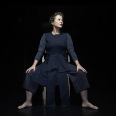 Sarah Cameron of Clod Ensemble performing in 'The Red Chair' here on 19th June 2015