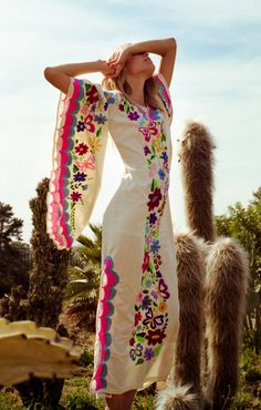 60's 70's Butterfly Sleeves Woodstock Caftan #NewCropShop