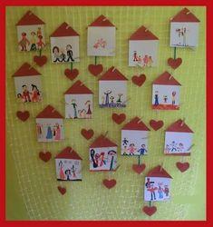 Preschool Family, Preschool Arts And Crafts, K Crafts, Family Crafts, Preschool Lessons, Preschool Activities, Crafts For Kids, Preschool Friendship, Family Collage
