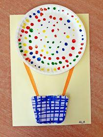 KOLOROWY ŚWIAT DZIECI: Kolorowe balony z papierowych talerzy Toddler Preschool, Preschool Crafts, Toddler Activities, Summer Crafts, Diy And Crafts, Arts And Crafts, Diy For Kids, Crafts For Kids, Dr Seuss Birthday Party