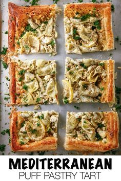 When you need a great appetizer, Pepperidge Farm® Puff Pastry is a quick and delicious option. This Mediterranean Puff Pastry Tart is made with zero hassle and is ready asap! Loaded with feta cheese and artichokes, this tart is made to impress! Puff Pastry Recipes Savory, Puff Pastry Pizza, Savory Tart, Tart Recipes, Appetizer Recipes, Cooking Recipes, Puff Pastry Vegetable Tart, Great Appetizers, Pepperidge Farm Puff Pastry