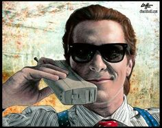 Patrick Bateman by Chuck Hodi American Psycho, Pop Art, Mens Sunglasses, Dark Art, Horror, Creativity, Portraits, Etsy, Style