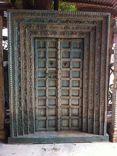An antique Indian door we purchased while in India. www.discoveriesLA.com