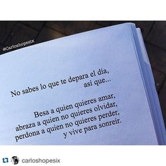 Sus textos siempre son geniales, buenas noches!  #Repost @carloshopesix Poetry, Thoughts, Quotes, Cheesecake, Instagram, Texts, Truths, Frases, Forget