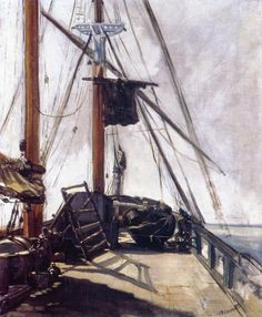 """Night and day, wind and storm, tide and earthquake, impeded man no longer. He had harnessed Leviathan. All the old literature, with its praise of Nature, and its fear of Nature, rang false as the prattle of a child.""  ― E.M. Forster, The Machine Stops  Ship's Deck   Édouard Manet 1868"