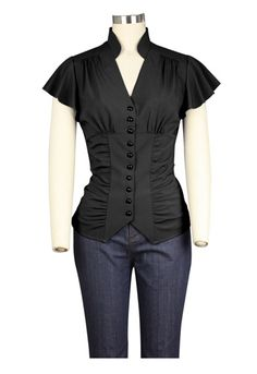 1930s inspired Blouse by Amber Middaugh Standard Size$24.95 Plus Size $29.95
