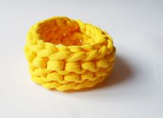 Organic cotton bracelet in sunny yellow