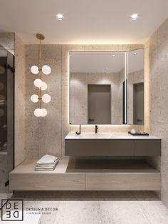 "DE&DE/Villa in ""Honcanova"" residential complex on Behance Washroom Design, Bathroom Design Luxury, Modern Bathroom Design, Home Room Design, Home Interior Design, House Design, House Rooms, Bathroom Inspiration, Small Bathroom"