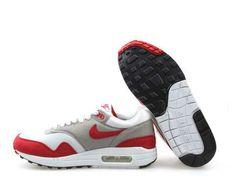 Danmark Billige Nike Air Max 87 Trainers Kvinder - White/Red/Grey