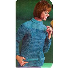 Long Sleeve Cable Hip Belted Sweater Knit Pattern  The Cables and ribs accentuate long lines of a rolled collar sweater. Hip riding belt slips through front and back slots. Pair it up with a pair of jeans for a ready-to-go look.