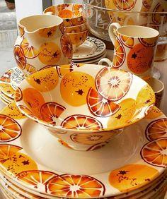 Orange - I love this! Pottery Painting, Ceramic Painting, Emma Bridgewater Pottery, Cosy Home, Green Theme, Autumn Cozy, Orange Crush, Orange Blossom, My Favorite Color
