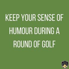 Keep your sense of humour during a round golf. There's enough stress in the rest of your lift not to let a few bad shots ruin a game you're supposed to enjoy. Swing Quotes, Golf Quotes, Golf Humor, Stress, Play, Ruin, Shots, Game, Instagram