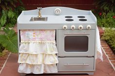 We love cooking from scratch, but designing & building your kids play kitchen from scratch-- that's cool!!