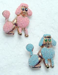 Vintage poodle pins. My mom had these!