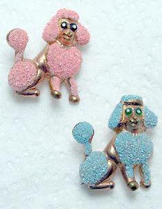 Vintage poodle pins