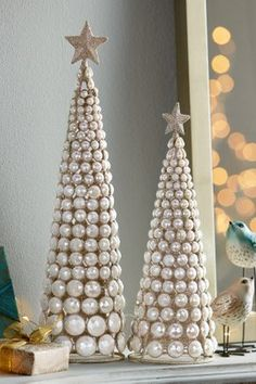 Shop Soft Surroundings sale for great deals on women's clothing, beauty and home decor. Tabletop Christmas Tree, Christmas Tree Crafts, Mini Christmas Tree, Christmas Mantels, Christmas Centerpieces, Christmas Colors, Xmas Tree, Holiday Crafts, Christmas Decorations